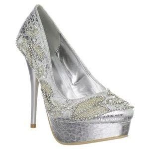 Celeste Women Silver Shoes High Heel